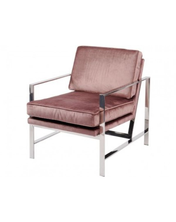 Caverly Club Chair With Chrome Frame